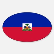 Haitian flag Sticker (Oval)