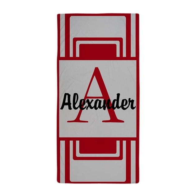 Personalized Monogrammed Beach Towel By Designsbyharmony