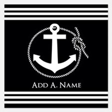 Black and White Nautical Ro Invitations