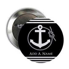"""Black and White Nautical Ro 2.25"""" Button (10 pack)"""