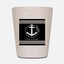 Black and White Nautical Rope and Ancho Shot Glass
