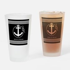 Black and White Nautical Rope and A Drinking Glass