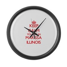 Keep calm you live in Marissa Ill Large Wall Clock