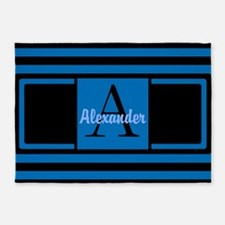 Personalized Monogrammed 5'x7'area Rug