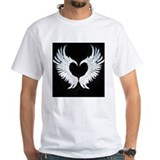 Angel wings Mens Classic White T-Shirts