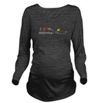 I Love Skijoring Long Sleeve Maternity T-Shirt