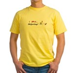 I Love Skijoring Yellow T-Shirt
