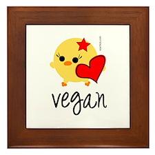 Vegan Love Framed Tile
