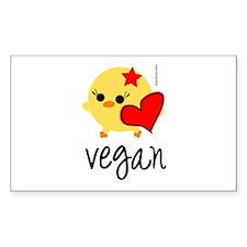 Vegan Love Rectangle Decal