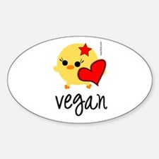Vegan Love Oval Decal