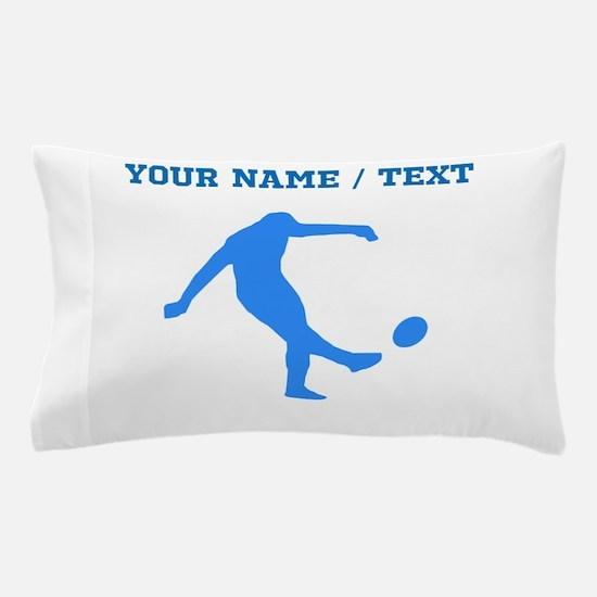Custom Blue Rugby Kick Pillow Case