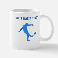 Custom Blue Rugby Kick Mugs