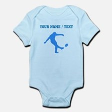 Custom Blue Rugby Kick Body Suit