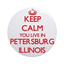 Keep calm you live in Petersburg Ornament (Round)