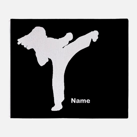 Martial Arts Personalized Throw Blanket
