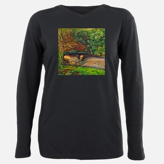 Millais: Drowning Ophelia Plus Size Long Sleeve Te