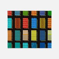 Quilt Pattern Throw Blanket