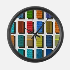 Quilt Pattern Large Wall Clock