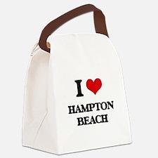 I Love Hampton Beach Canvas Lunch Bag