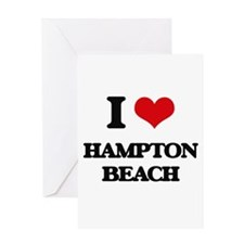I Love Hampton Beach Greeting Cards