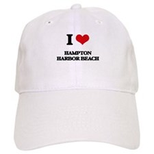 I Love Hampton Harbor Beach Baseball Baseball Cap