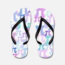 Watercolor Pi Flip Flops