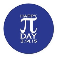 Happy Pi Day Round Car Magnet