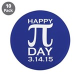 Pi day pins 10 Pack