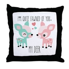 Fawned of You Throw Pillow