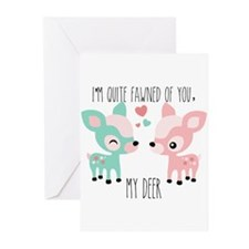 Fawned of You Greeting Cards