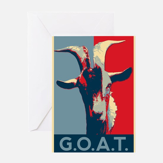 Greatest of all time - G.O.A.T. Greeting Cards