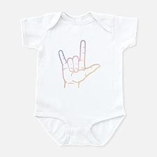 Pastel I Love You Infant Bodysuit