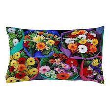 Colorful floral bouquets Pillow Case