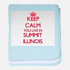 Keep calm you live in Summit Illinois baby blanket