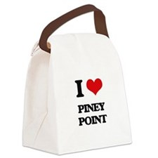 I Love Piney Point Canvas Lunch Bag