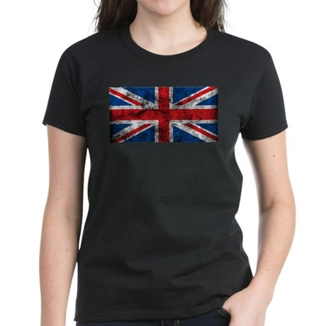 Vintage United Kingdom Women's Dark T-Shirt