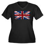 Vintage United Kingdom Women's Plus Size V-Neck Da
