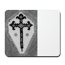 Mousepad: Cruz De Santiago B&w (offset)