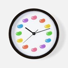 big_jelly_bean_pink_stripes_w.png Wall Clock