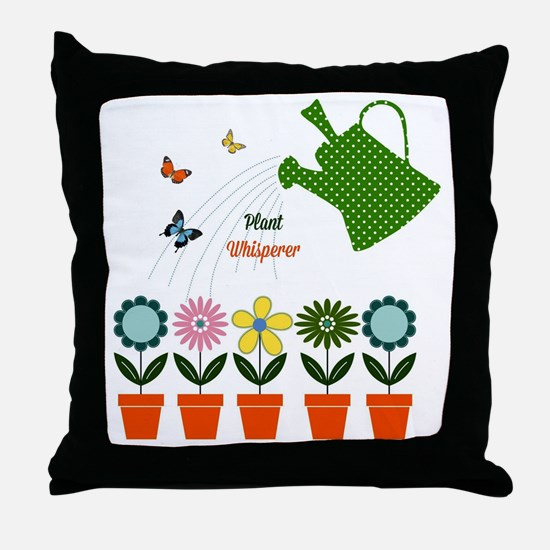 Plant Whisperer - Garden Grow Throw Pillow