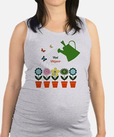 Plant Whisperer - Garden Grow Maternity Tank Top