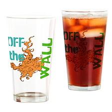 Off The Wall Orange Splat Drinking Glass