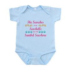 Sanibel shelling Infant Bodysuit
