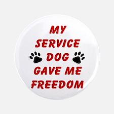 "SERVICE DOG 3.5"" Button"
