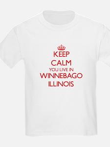 Keep calm you live in Winnebago Illinois T-Shirt
