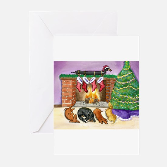 Cute Dachshund christmas Greeting Cards (Pk of 20)