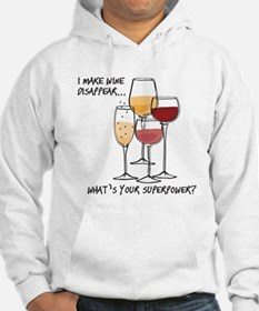 I makw wine disappear what is your superpower? Hoo
