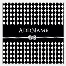 Black and White Argyle and Invitations