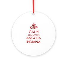 Keep calm you live in Angola Indi Ornament (Round)