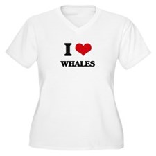 I Love Whales Plus Size T-Shirt